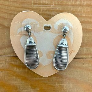 Brighton Silver Plated Plates Drop Earrings